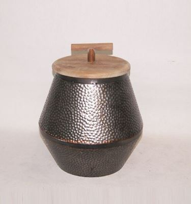 Picture of Metal Wood Top Container