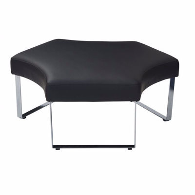Picture of Black Fabric Lounge Bench *D