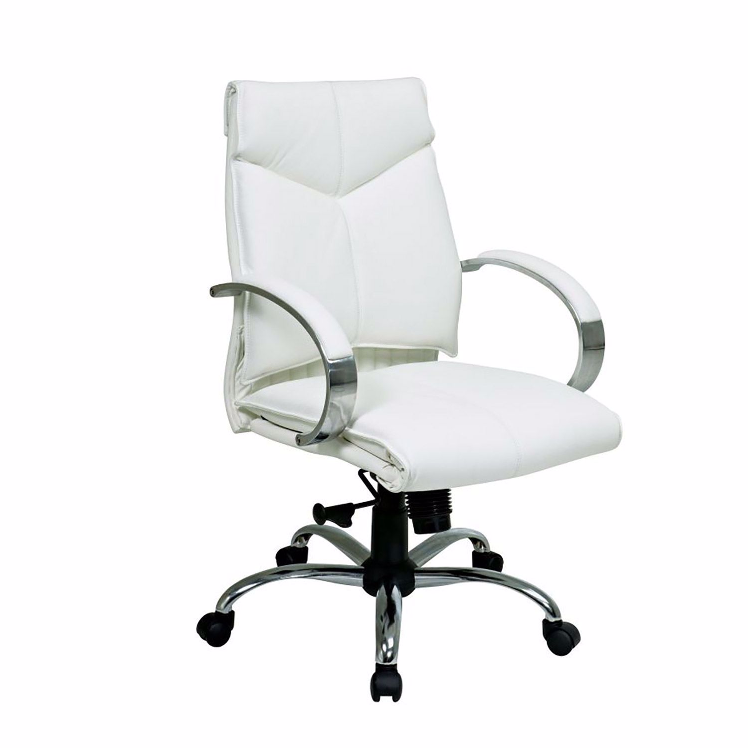White Leather Office Chair 38  Office Star  AFW.com