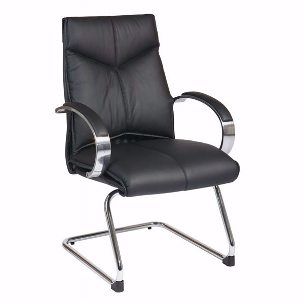 Picture of Black Leather Office Chair 8205 *D