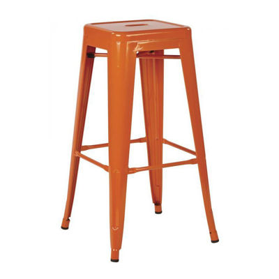 Picture of 30-Inch Mtl Orange Backless Stool, 4-Pack *D