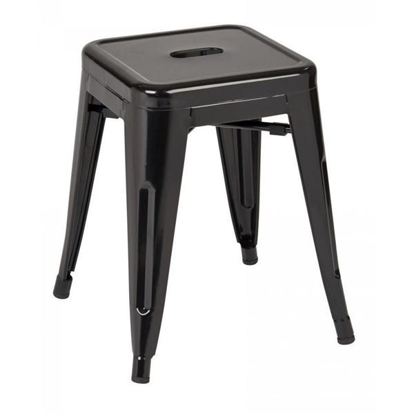 Picture of 18-Inch Mtl Backless Black Stool, 2-Pack *D