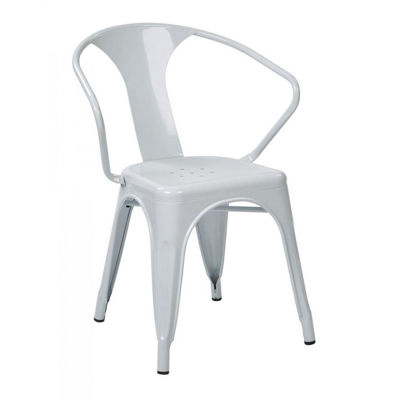 Picture of 30-InchWhite Metal Chair, 4-Pack *D