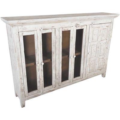 Picture of Vintage White 72-Inch Door Curio