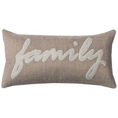 Picture of 11x21 Family Kidney Decorative Pillow *P