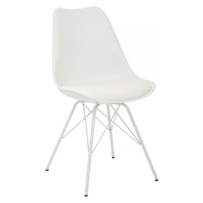 Picture of Emerson Student Side Chair W/4 Leg base White *D
