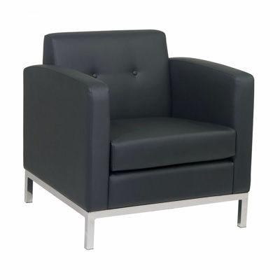 Picture of Wallstreet Black Arm Chair *D