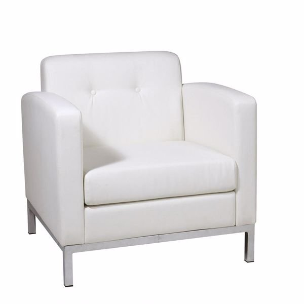 Picture of Wallstreet White Arm Chair *D
