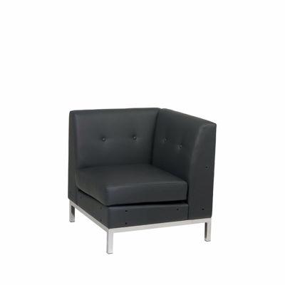 Picture of Wallstreet Black Corner Chair *D