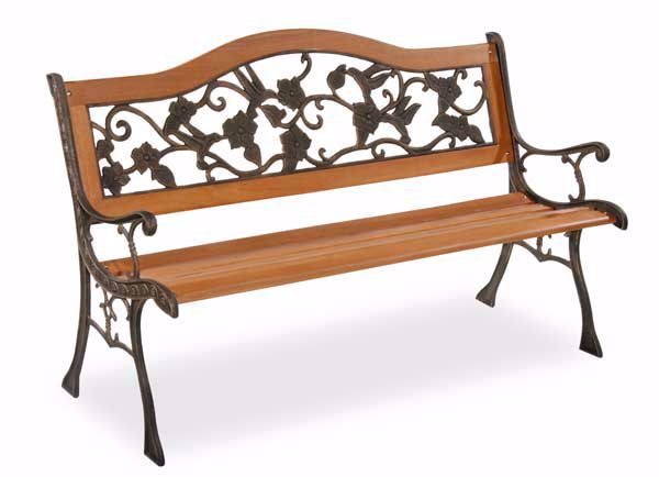 Excellent Park Bench With Cast Iron Back Sides Rose Creativecarmelina Interior Chair Design Creativecarmelinacom