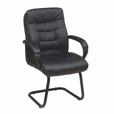 Picture of Faux Leather Visitors Chair with Padded Arms *D