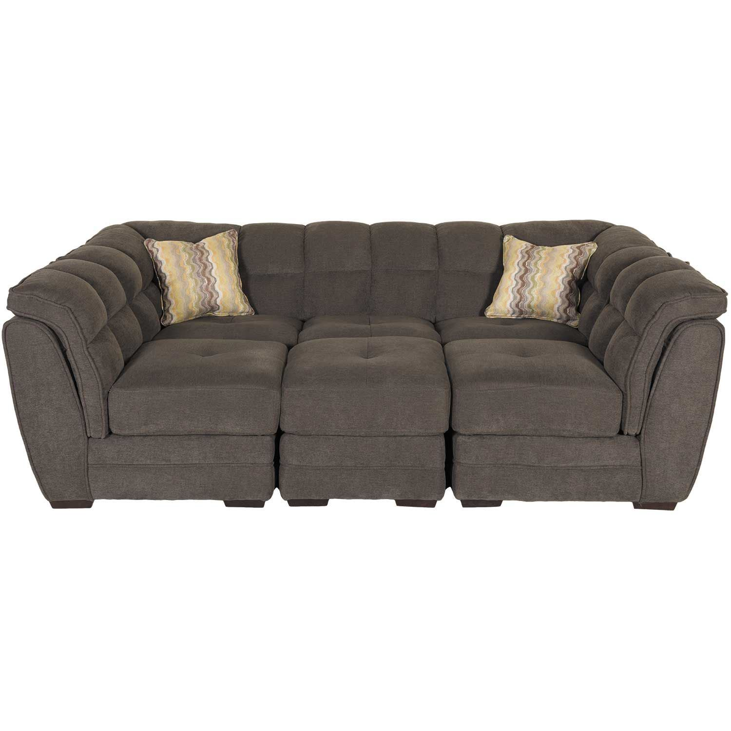 Clio Gray 4 Piece Pit Sectional