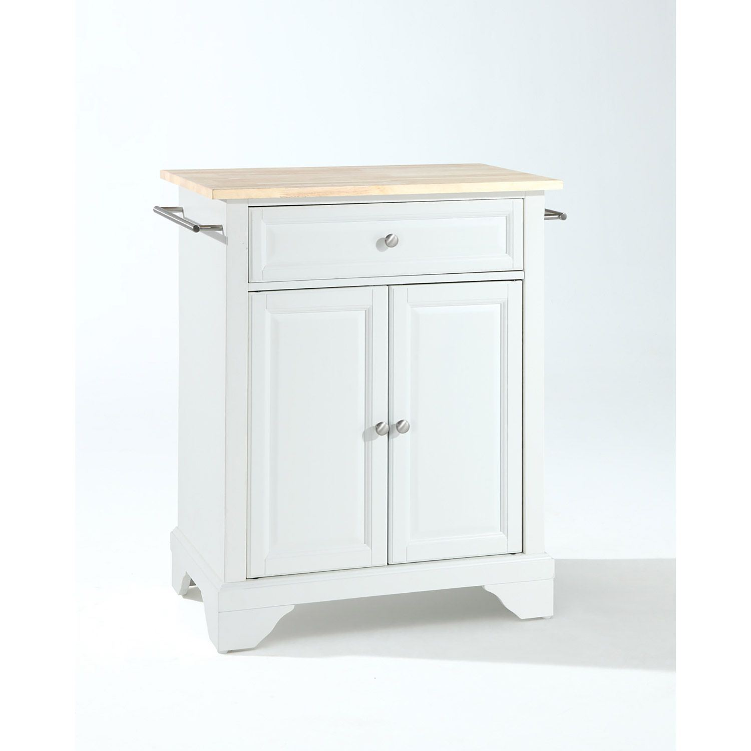 Picture of Lafayette Wood Top Kitchen Cart, White *D