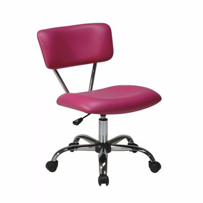 Picture of Vista Pink Vinyl Office Chair *D