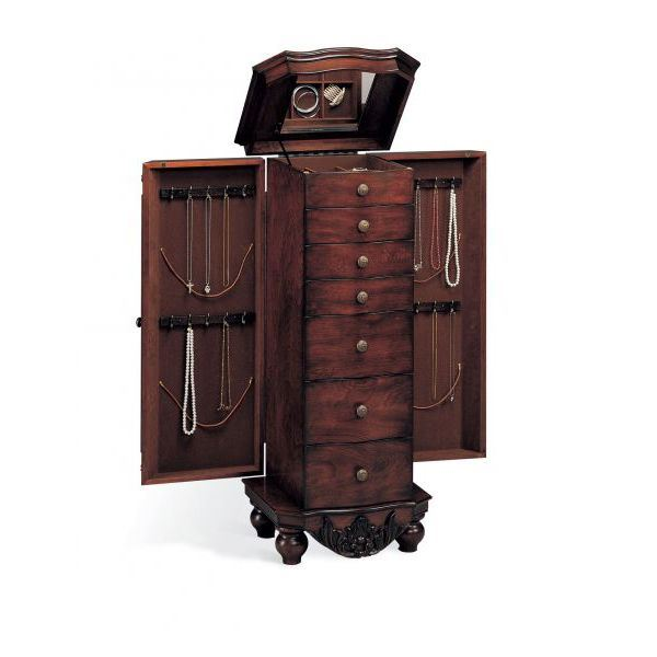 Picture of Jewelry Armoire, Brown Red *D
