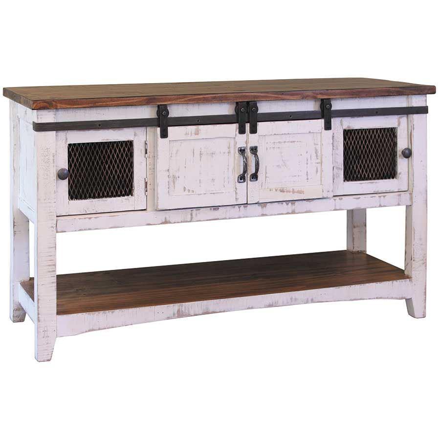 Picture of Pueblo White Sofa Table