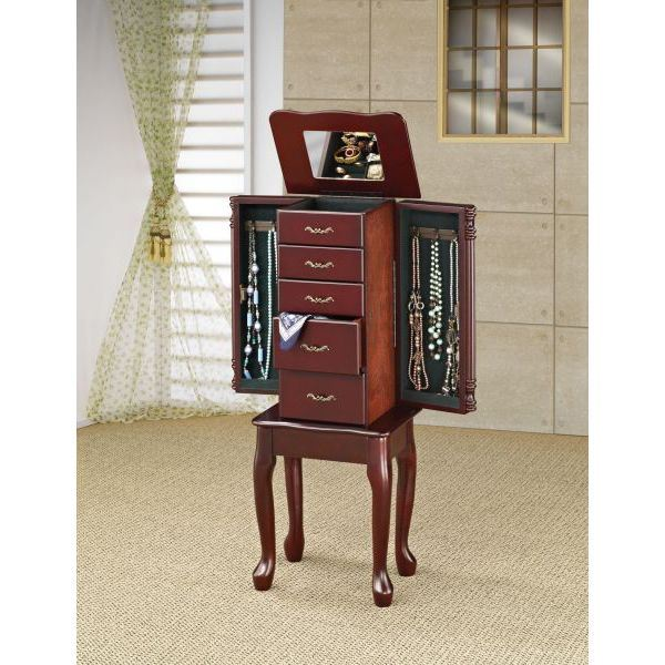 Picture of Jewelry Armoire, Merlot *D