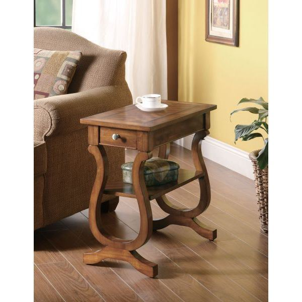 Picture of Chairside Table, Warm Brown *D