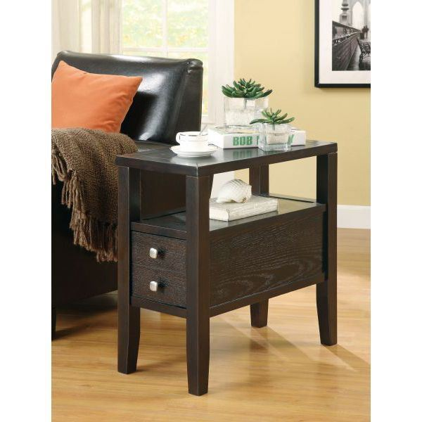 Picture of Chairside Table, Cappuccino *D