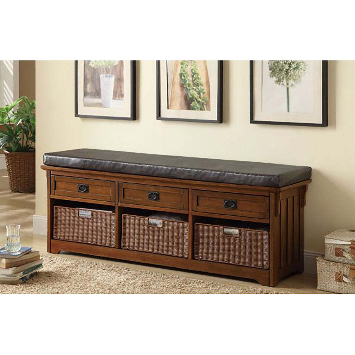 Picture of Storage Bench Medium Brown *D
