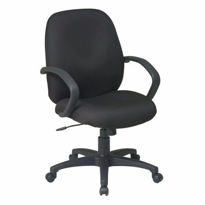 Picture of Exec Mid Back Managers Chair with Fabric Back *D