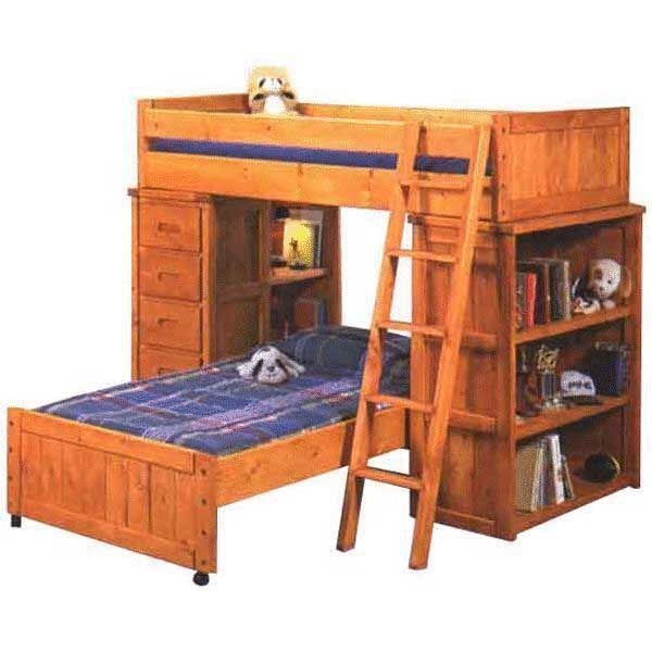 Bunkhouse Shelf End Chest End Bunk Loft 4740 Loftb S