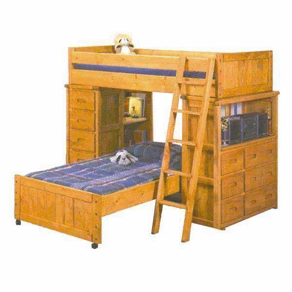 Bunkhouse Storage Loft Bunk Bed 4740 Lofte S Afw Com