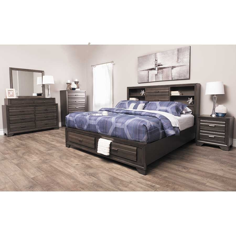 Antique Grey 5 Piece Bedroom Set | 5236-QBED/020/030/040/050 ...