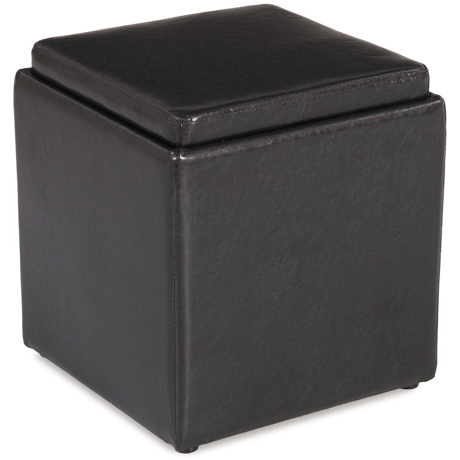 Blocks Brown Storage Ottoman With Tray