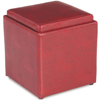 Picture of Blocks Orange Storage Ottoman with Tray