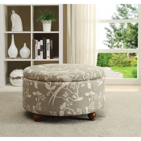 Picture of Gray Storage Ottoman *D