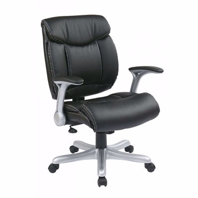 Picture of Exec Bonded Leather Chair in Silver/Black *D