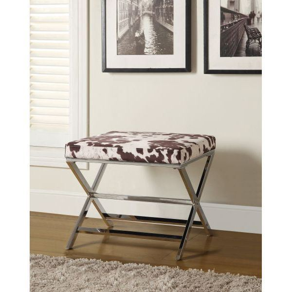 Picture of Stool, White/Brown *D