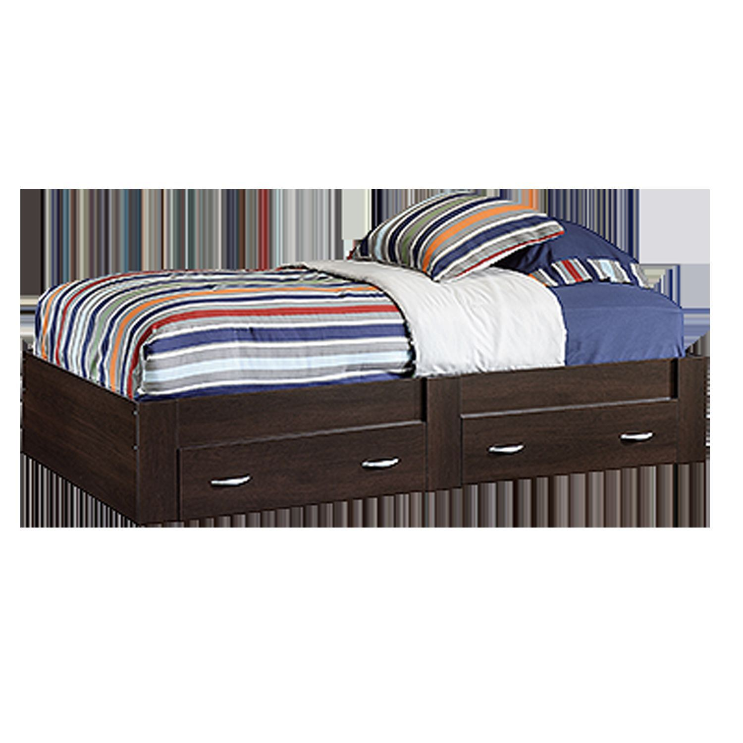 Picture of Beginnings Twin Platform Bed Cinnamon Cherry * D