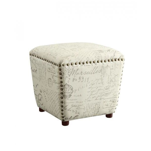 Picture of Stool, Off White/Grey *D