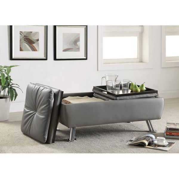 Picture of Grey Ottoman *D