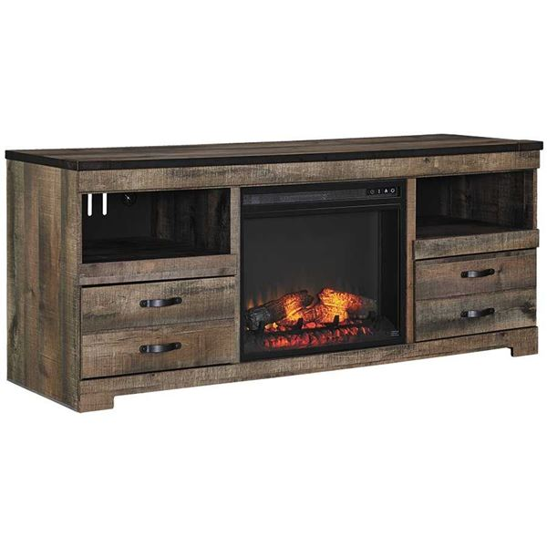 Picture of Trinell Large TV Console with Fireplace