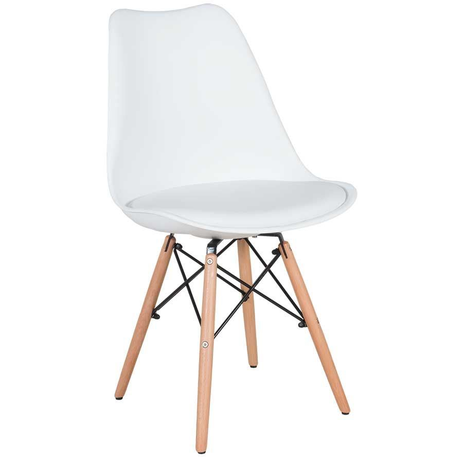 Superbe Picture Of Aksel White Molded Chair