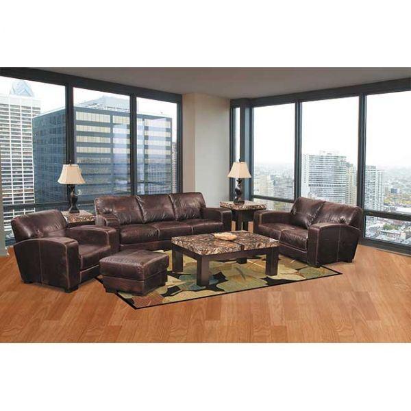 Aspen All Leather Sofa 4442s Aspen Saddle 40002 Soft
