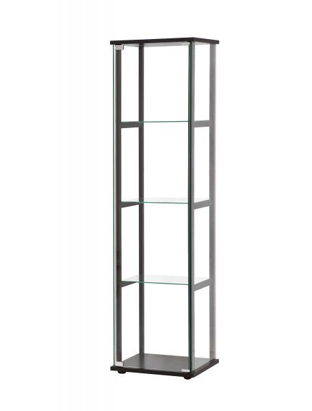 Picture of Black 4 Shelves Curio Cabinet *D