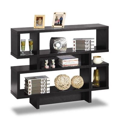 Picture of Black 2-Tier Display Cabinet