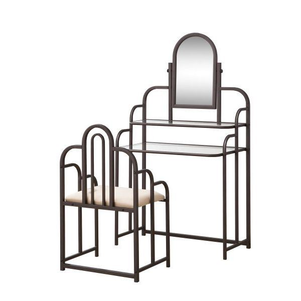 Picture of Set of Two Vanity Set, Brown *D