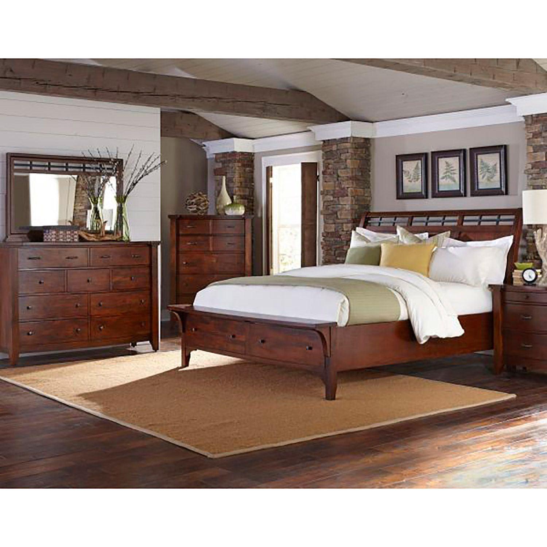Whistler Retreat 5 Piece Bedroom Set 70 Qbed Dr Mr Ns Ch Napa