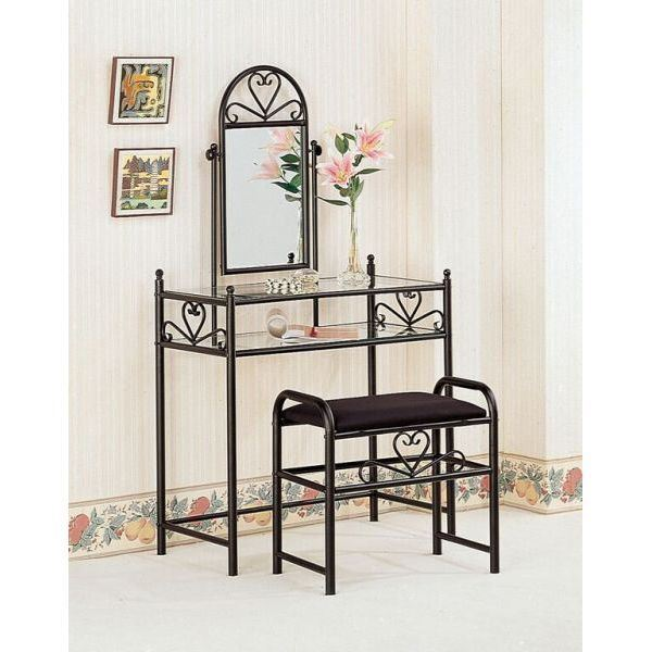 Picture of Two Piece Vanity Set, Black *D