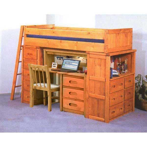 Bunkhouse Twin Desk Hutch Loft Bunk 4740 Loftd S Afw Com