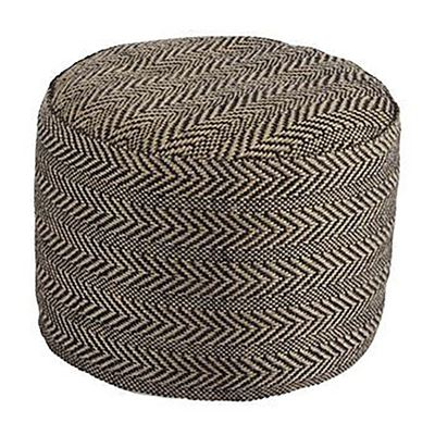 Picture of Natural Chevron Pouf *D