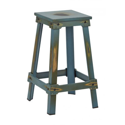 Picture of Teal New Castle 26in Mtl Stool *D