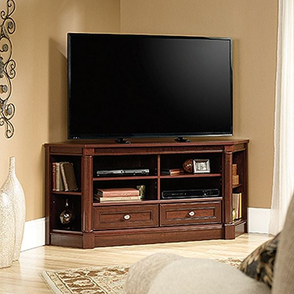 Picture of Palladia Corner Entertain Credenza Select Cherry *