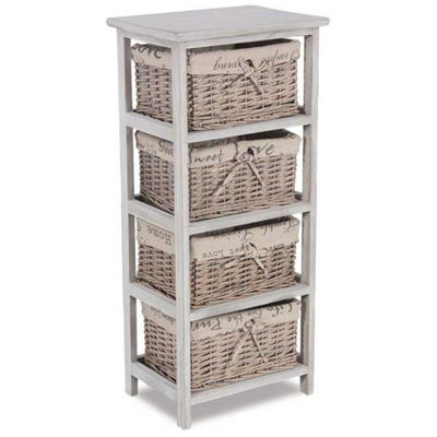 Picture of 4-Drawer Wicker Basket