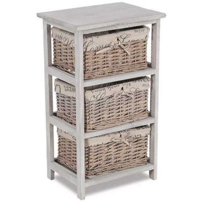 Picture of 3-Drawer Wicker Basket